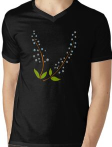 Retro Botanical design Mens V-Neck T-Shirt