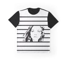 High Contrast Natalie Dormer with Background Design Graphic T-Shirt