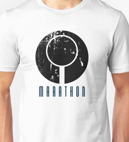 Marathon Symbol II - Black Unisex T-Shirt