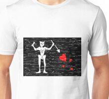 Aged Black Beard Flag Unisex T-Shirt