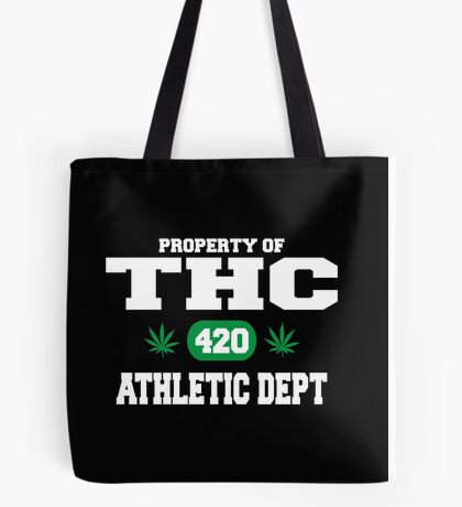 Cannabis THC Athletic Dept Tote Bag