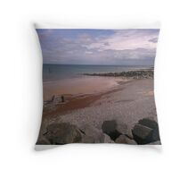 Sheringham Costal View  Throw Pillow