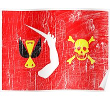 Aged Christopher Moody Flag Poster