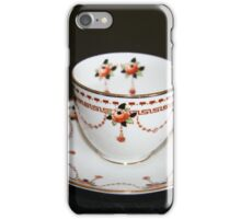 Vintage tea cup and saucer iPhone Case/Skin