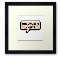 Halloween Queen. Framed Print