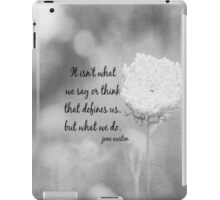 Jane Austen What We Do iPad Case/Skin