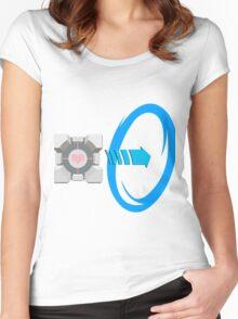 Blue portal love Women's Fitted Scoop T-Shirt