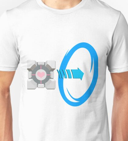 Blue portal love Unisex T-Shirt