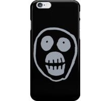 The Mighty Boosh – Big Mask (Grey) iPhone Case/Skin