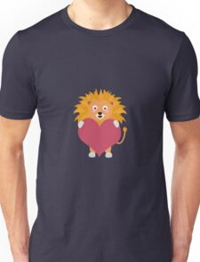 Lion with big heart Unisex T-Shirt