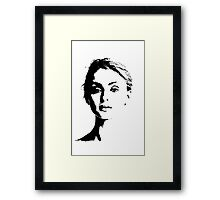 High Contrast Sophie Turner Framed Print