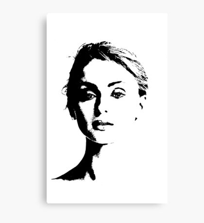 High Contrast Sophie Turner Canvas Print