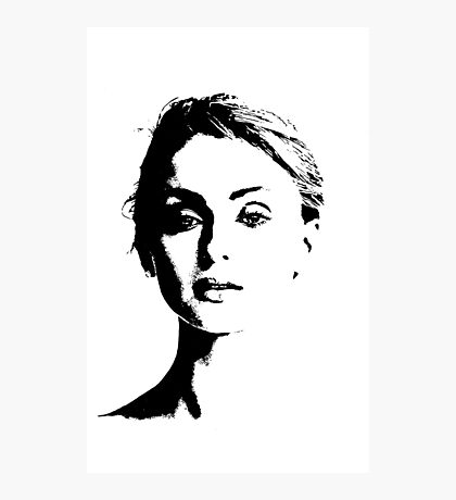 High Contrast Sophie Turner Photographic Print