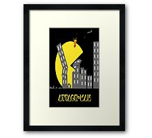 Attack Man Framed Print