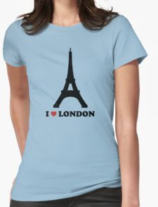 I Love London France Troll Womens Fitted T-Shirt