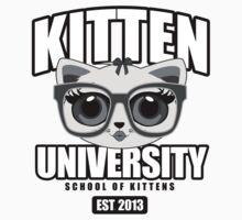 Kitten University - Grey One Piece - Short Sleeve