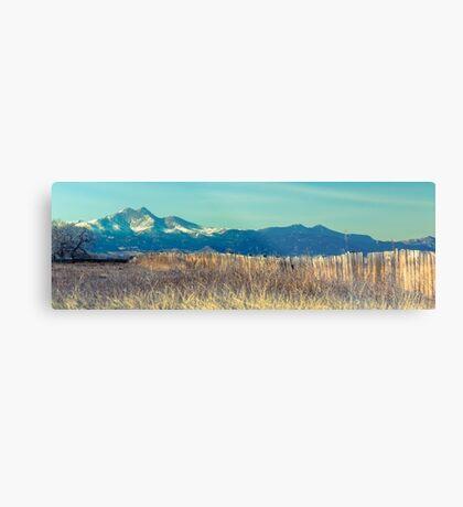 Twin Peaks Rustic Fence Metal Print