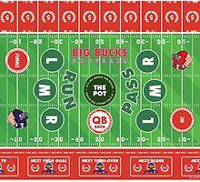 Big Bucks Football - Red & White by bigbuck