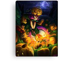 Pumpkin Smash Canvas Print