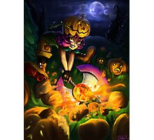 Pumpkin Smash Photographic Print