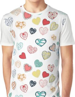 Vintage hand drawn sweet hearts Graphic T-Shirt