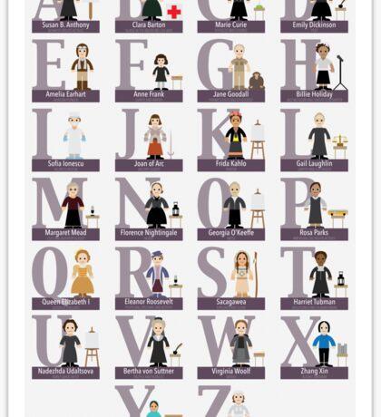 Awesome Females Alphabet Sticker