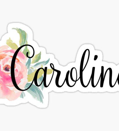 Carolina Custom Name Sticker