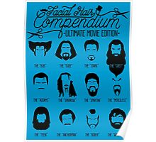 Movie Facial Hair Compendium Poster