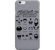 The Gamer Facial Hair Compendium iPhone Case/Skin