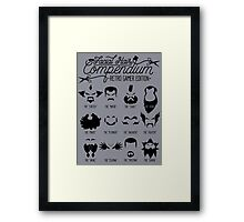 The Gamer Facial Hair Compendium Framed Print