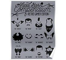 The Gamer Facial Hair Compendium Poster