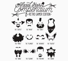 The Gamer Facial Hair Compendium Kids Clothes