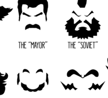 The Gamer Facial Hair Compendium Sticker