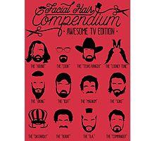 TV Facial Hair Compendium Photographic Print