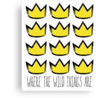 Where the Wild Things Are - Crowns Cutout Canvas Print