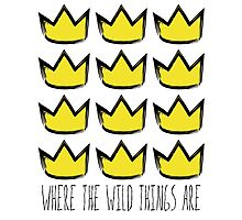 Where the Wild Things Are - Crowns Cutout Photographic Print