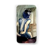 maybe she was more cat than human, she thought Samsung Galaxy Case/Skin