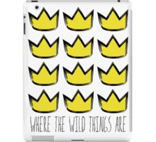 Where the Wild Things Are - Crowns Cutout iPad Case/Skin