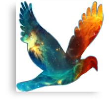 Space Bird, Universe, Galaxy, Cosmos Canvas Print