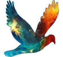 Space Bird, Universe, Galaxy, Cosmos Photographic Print