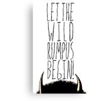 Where the Wild Things Are - Rumpus Begin Cutout Canvas Print