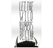 Where the Wild Things Are - Rumpus Begin Cutout Poster