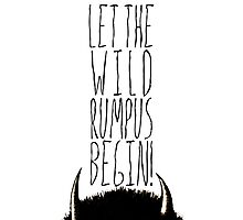 Where the Wild Things Are - Rumpus Begin Cutout Photographic Print