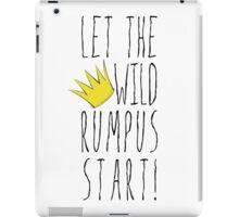 Where the Wild Things Are - Rumpus Start Crown Cutout iPad Case/Skin