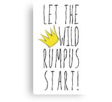 Where the Wild Things Are - Rumpus Start Crown Cutout Canvas Print