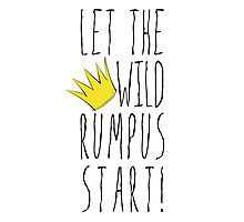 Where the Wild Things Are - Rumpus Start Crown Cutout Photographic Print