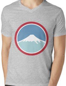 Mount Fuji Mens V-Neck T-Shirt