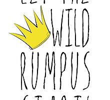 Where the Wild Things Are - Rumpus Start Crown Sticker by thebremanmuseum
