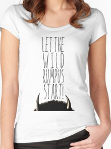 Where the Wild Things Are - Rumpus Start Cutout Women's Fitted Scoop T-Shirt