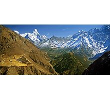 Everest and Gokyo valleys Photographic Print